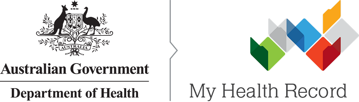 My Health Record logo banner
