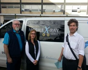 Mobile x ray service staff