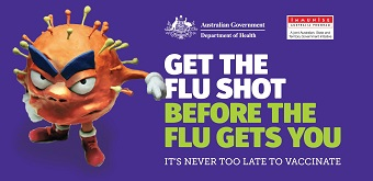 Get the flu shot before the flu gets you poster