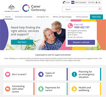 Carer Gateway Website
