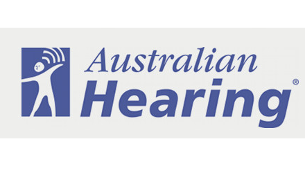 Australian Hearing logo for launch
