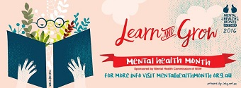 Learn and Grow banner for NSW Mental Health Month