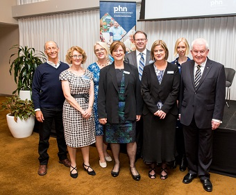 AGM panellists, Chair, MC with SNPHN CEO