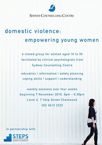 Domestic Violence workshop series from Sydney Counselling Centre