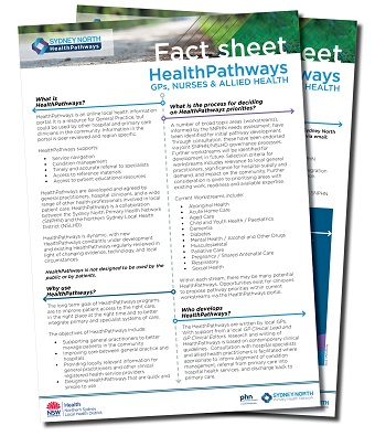 HealthPathways fact sheet small