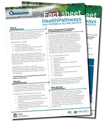 HealthPathways fact sheet small