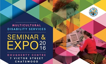 Flyer for multicultural disability services seminar and expo