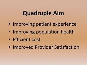 Quadruple aim of healthcare