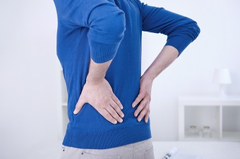 Person with lower back pain
