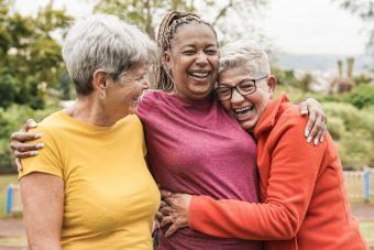 Happy,Multiracial,Senior,Women,Having,Fun,Together,Outdoor,-,Elderly